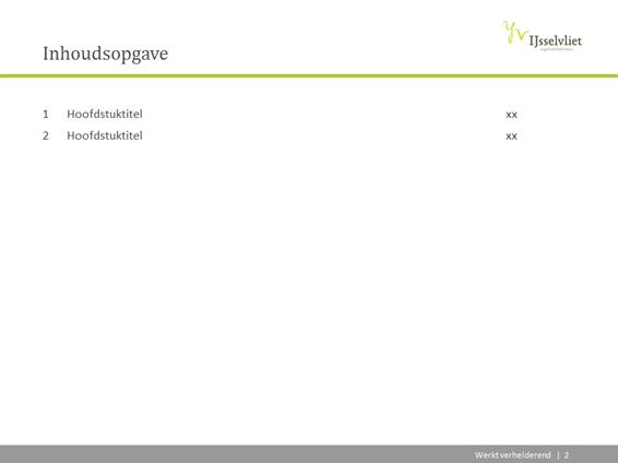 PowerPoint sjabloon voor rapport of projectplan | Mijn Sjablonen